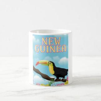 Poster del viaje de Nueva Guinea Toucan Taza De Café