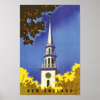 Poster del viaje de Nueva Inglaterra Póster