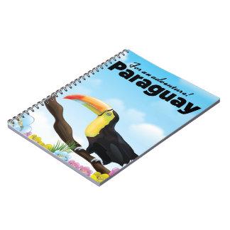 Poster del viaje de Paraguay Toucan Cuaderno