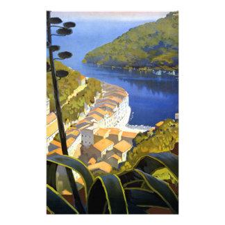 Poster del viaje de Riviera del La del vintage Papeleria