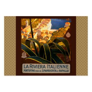 Poster del viaje de Riviera Europa Italia del Tarjetas De Visita Grandes