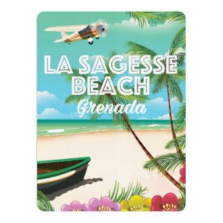 Poster del viaje de Sagesse del La de Grenada Invitación 16,5 X 22,2 Cm