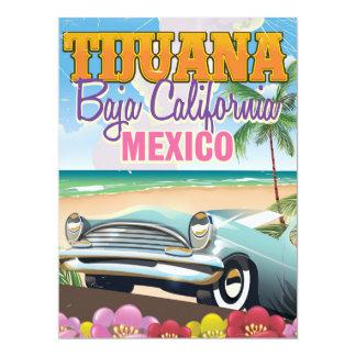 Poster del viaje de Tijuana Baja California México Invitación 16,5 X 22,2 Cm