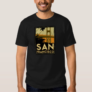 Poster del viaje del art déco de San Francisco Camisas