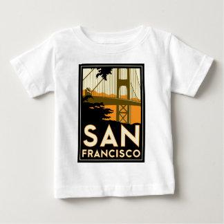 Poster del viaje del art déco de San Francisco Camisetas