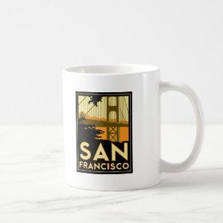 Poster del viaje del art déco de San Francisco Taza De Café