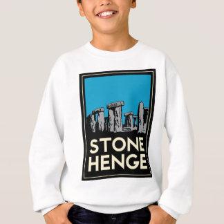 Poster del viaje del art déco de Stonehenge Camisetas