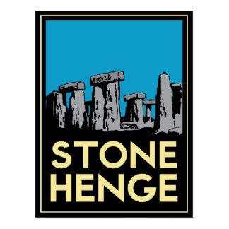 Poster del viaje del art déco de Stonehenge Postal