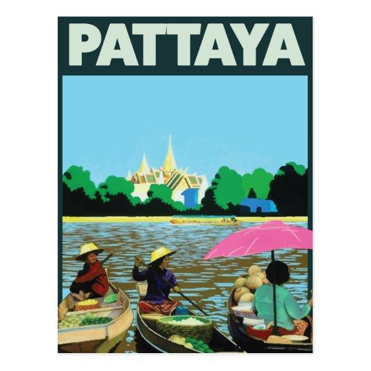 Poster del viaje del día de fiesta de Pattaya Postal