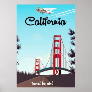Poster del viaje del dibujo animado de California Póster