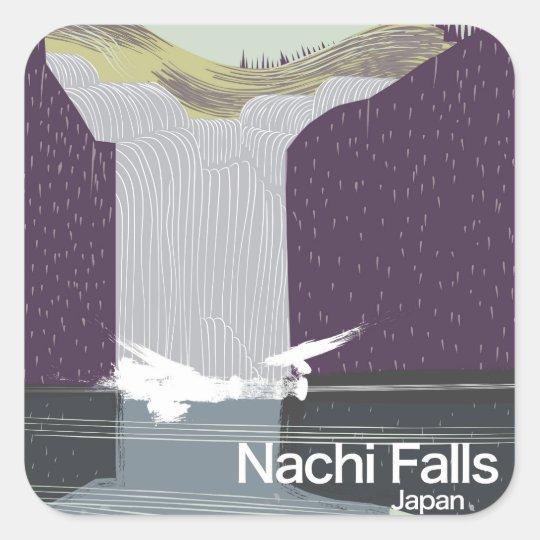 Poster del viaje del estilo del vintage de Japón Pegatina Cuadrada
