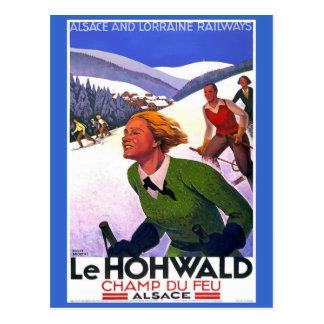 Poster del viaje del francés de Le Hohwald Vintage Postal