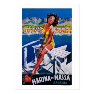 Poster del viaje del puerto deportivo de Massa Postal