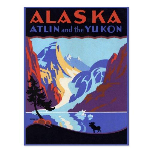 Poster del viaje del vintage, Atlin y el Yukón, Al Postal