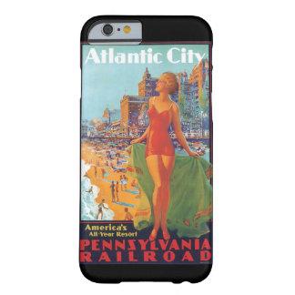 Poster del viaje del vintage de Atlantic City Funda Barely There iPhone 6
