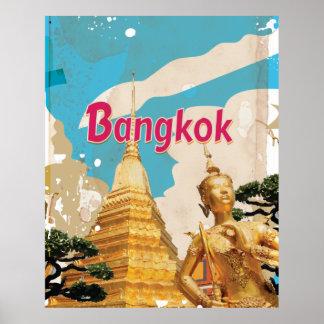 Poster del viaje del vintage de Bangkok Póster