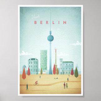 Poster del viaje del vintage de Berlín Póster