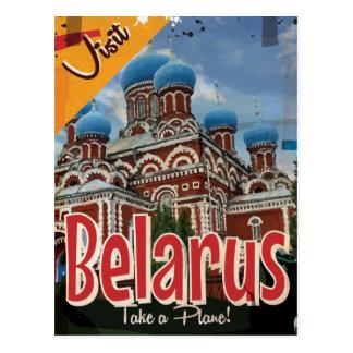 Poster del viaje del vintage de Bielorrusia Postal