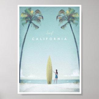 Poster del viaje del vintage de California Póster