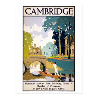 Poster del viaje del vintage de Cambridge Postal