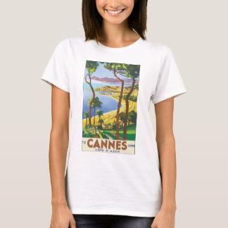 Poster del viaje del vintage de Cannes Cote d'Azur Camiseta