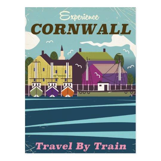Poster del viaje del vintage de Cornualles de la Postal