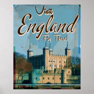 Poster del viaje del vintage de Inglaterra Póster