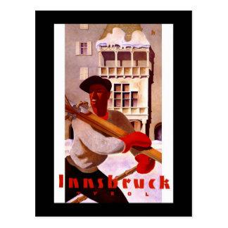 "Poster del viaje del vintage de ""Innsbruck"" Postal"
