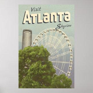 Poster del viaje del vintage de la noria de póster