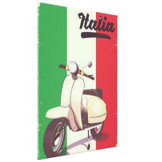 Poster del viaje del vintage de la vespa de Italia Lienzo
