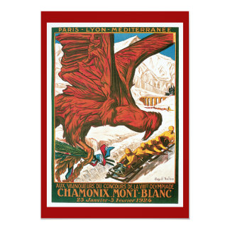 Poster del viaje del vintage de los Juegos Invitación 12,7 X 17,8 Cm