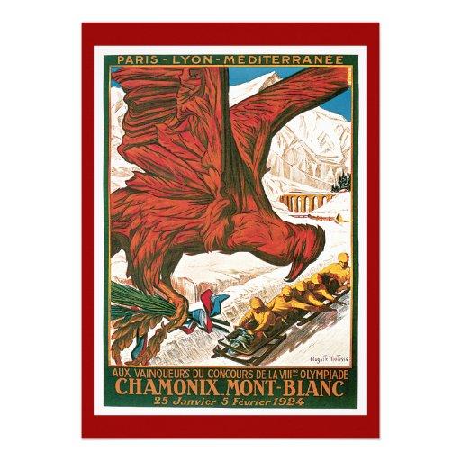 Poster del viaje del vintage de los Juegos Olímpic Invitaciones Personalizada