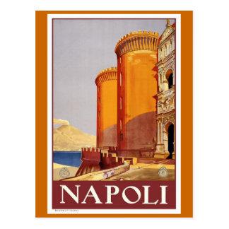 """Poster del viaje del vintage de """"Nápoles"""" Postal"""