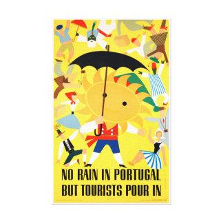 Poster del viaje del vintage de Portugal Lienzo