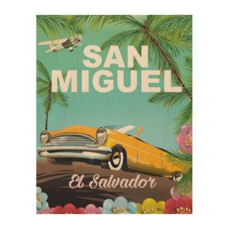 Poster del viaje del vintage de San Miguel El Cuadros De Madera
