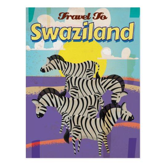 Poster del viaje del vintage de Swazilandia Postal