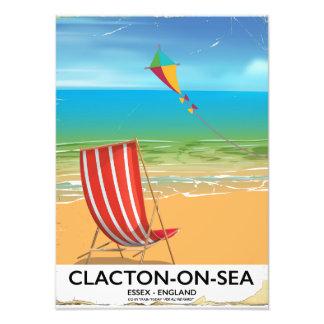 poster del viaje del vintage del Clacton-en-mar, Foto