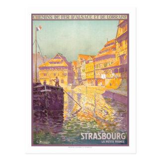 Poster del viaje del vintage, Estrasburgo Postal