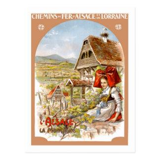 Poster del viaje del vintage, Francia Postal
