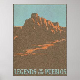 Poster del viaje del vintage, Taos, New México