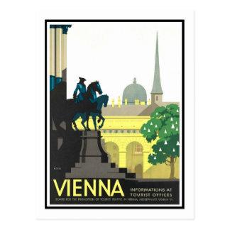 Poster del viaje del vintage, Viena Postal