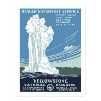Poster del viaje del vintage, Yellowstone Postal