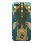 Poster del viaje espacial a Neptuno iPhone 5 Protectores