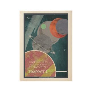 Poster del viaje espacial del art déco del