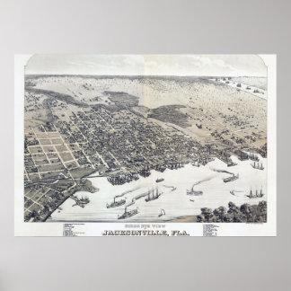 Poster del vintage de Jacksonville la Florida Póster