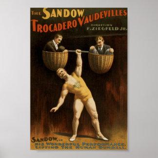 Poster del vintage de Sandow
