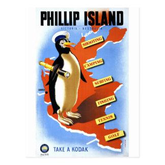 Poster del vintage de Victoria Australia de la Postal