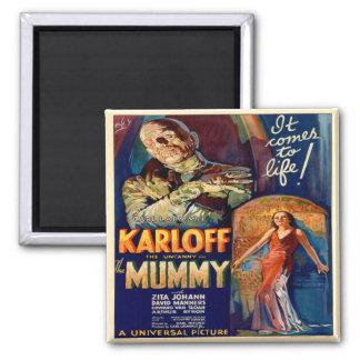 Poster del vintage del imán de la momia