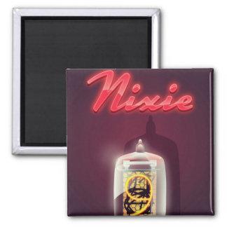 Poster del vintage del tubo de Nixie Imán