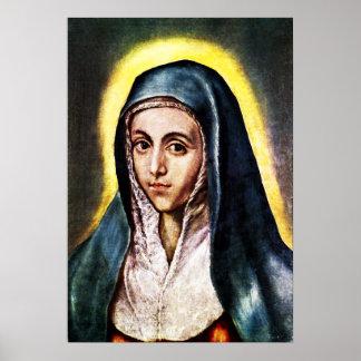 Poster del Virgen María de El Greco
